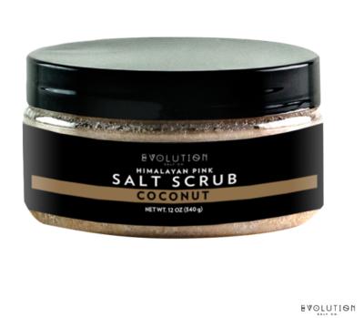 Evolution Salt Himalayan Salt Scrub Coconut, 12 Ounce