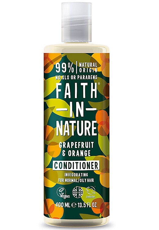 Faith in Nature Natural Hair Conditioner, Grapefruit and Orange, 13.5 fl Ounce