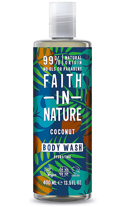 Faith in Nature Shower Gel Body Wash, Coconut, 13.5 fl Ounce