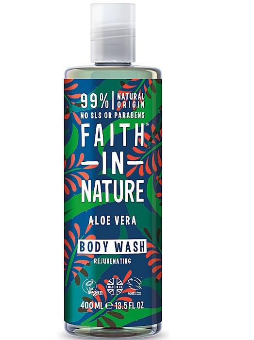 Faith in Nature Shower Gel Body Wash, Aloe Vera, 13.5 fl Ounce