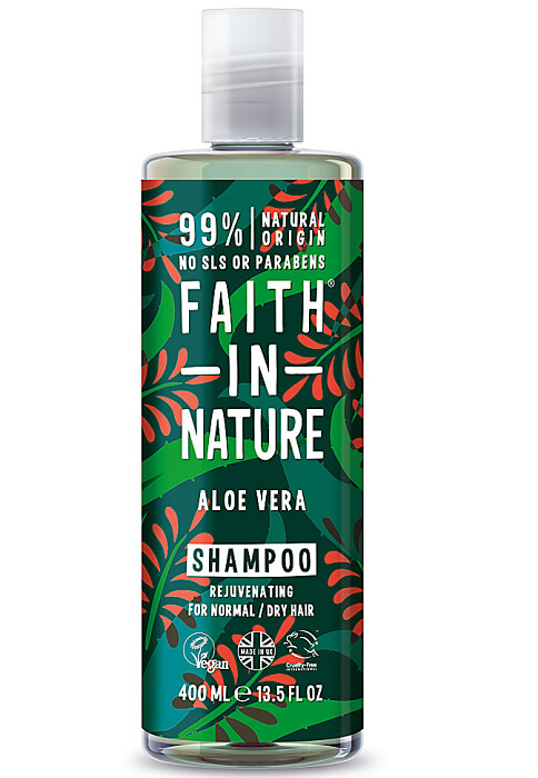 Faith in Nature Rejuvenating Hair Shampoo, Aloe Vera, 13.5 fl Ounce