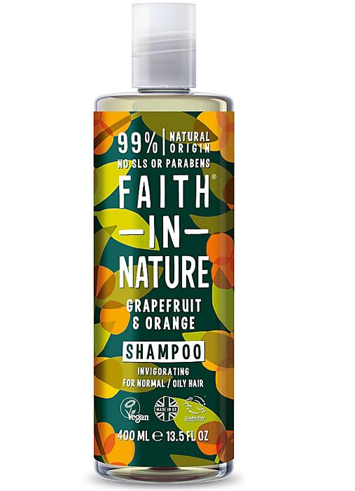 Faith In Nature Invigorating Hair Shampoo, Grapefruit and Orange, 13.5 fl Ounce