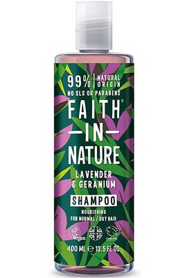 Faith in Nature Natural Hair Shampoo, Lavender Geranium, 13 5 fl Ounce