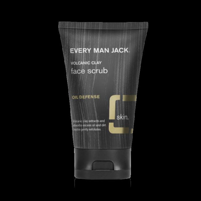 Every Man Jack Volcanic Clay Face Scrub, Oil Defense, Fragrance Free, 4.2 Ounce