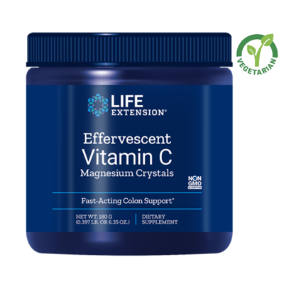 Life Extension Effervescent Vitamin C Magnesium Crystals, 6.35 Ounce