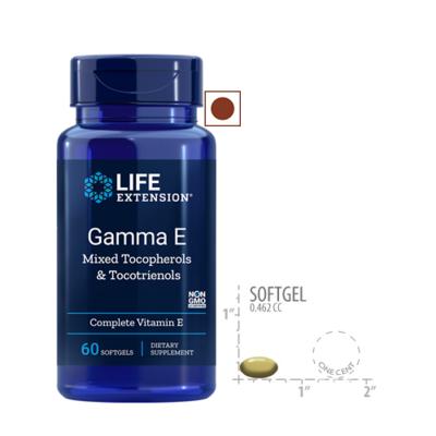 Life Extension Gamma E Mixed Tocopherols and Tocotrienols, 60 Softgels