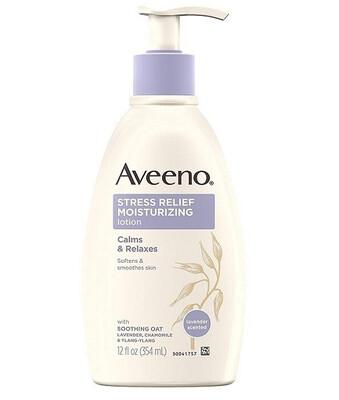 Aveeno Stress Relief Moisturizing Body Lotion, Lavender, 12 fl Ounce