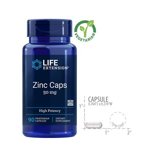 Life Extension Zinc 50 Mg (High Potency) 90 Capsules
