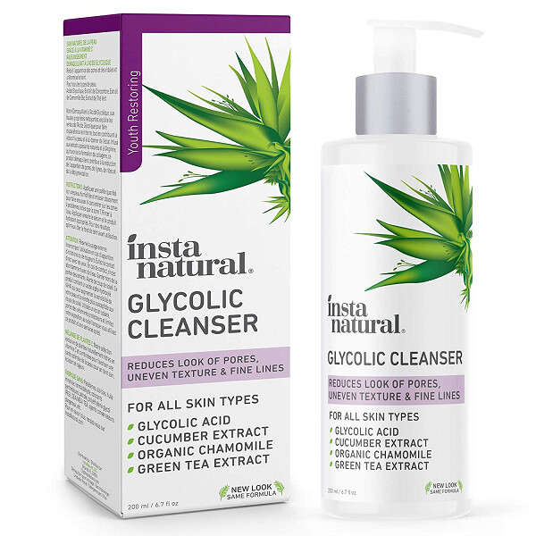 InstaNatural Glycolic Acid Facial Cleanser, 6.7 fl Ounce