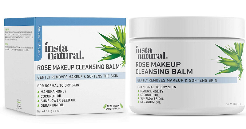 InstaNatural Rose Makeup Cleansing Balm, 4 fl Ounce