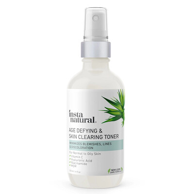 InstaNatural Age Defying and Skin Clearing Toner, 4 fl Ounce