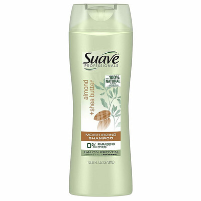 Suave Professionals Moisturizing Hair Shampoo, Almond + Shea Butter, 12.6 Ounce