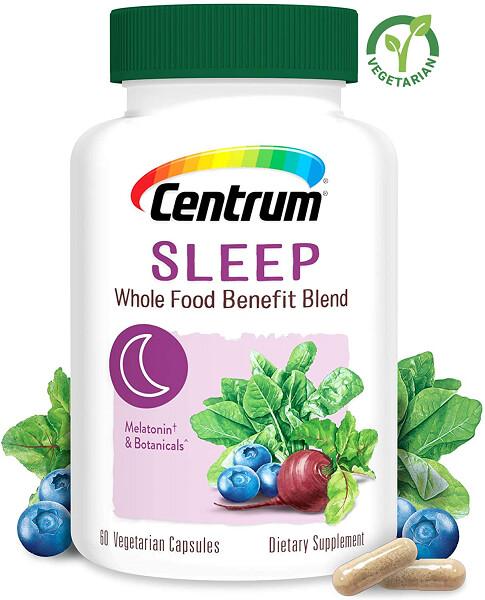 Centrum Whole Food Benefit Blend Sleep, 60 Capsules