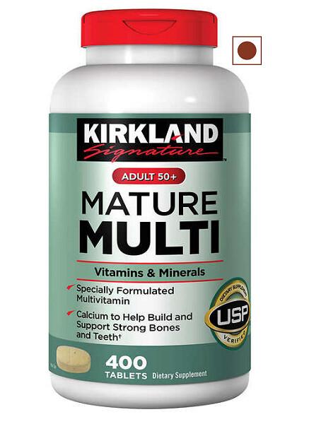 Kirkland Signature Adult 50+ Mature Multivitamins and Minerals, 400 Tablets