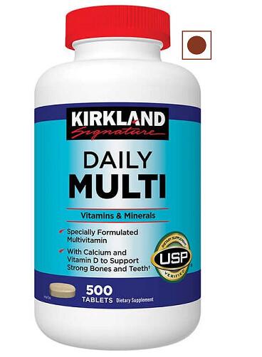 Kirkland Signature Daily Multivitamin, 500 Tablets