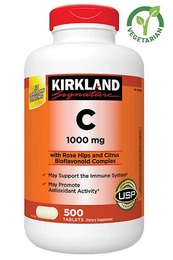 Kirkland Signature Vitamin C 1000 mg, 500 Tablets