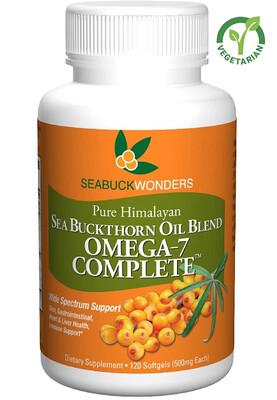 Sea Buckthorn Oil Blend, Omega-7 Complete, 120 Softgels