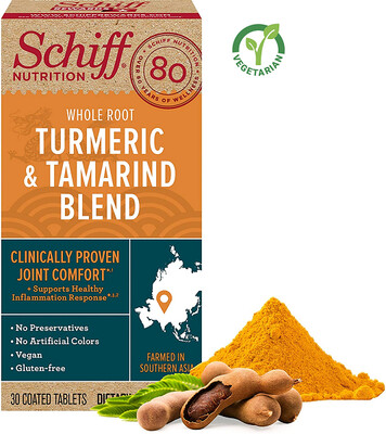 Schiff Whole Root Turmeric & Tamarind Blend 30 Tablets
