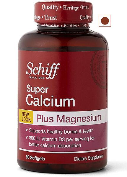 Schiff Calcium Carbonate Plus Magnesium with Vitamin D3 800 IU, 90 Softgels