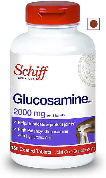 Schiff Glucosamine 2000mg with Hyaluronic Acid Joint Supplement, 150 Tablets