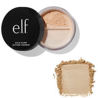 e.l.f Halo Glow Setting Powder, Medium, 0.24 Ounce
