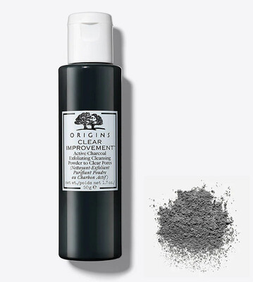 Origins Clear Improvement Active Charcoal Exfoliating Cleansing Powder to Clear Pores, 1.7 Ounce