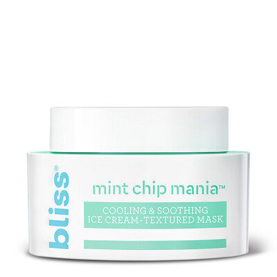 Bliss Mint Chip Mania Soothing Facial Mask, 1.7 Ounce