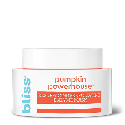 Bliss Pumpkin Powerhouse Resurfacing and Exfoliating Enzyme Face Mask, 1.7 Ounce