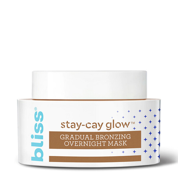 Bliss Stay Cay Glow Gradual Bronzing Overnight Face Mask, 1.7 Ounce