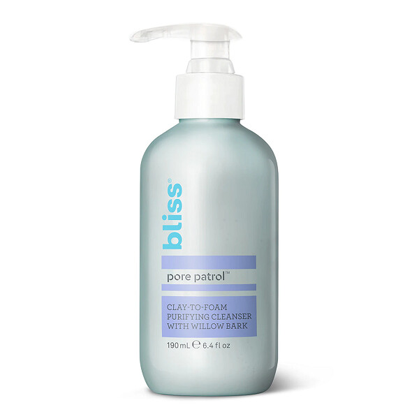 Bliss Pore Patrol Cleanser, Clay-to-Foam Purifying Cleanser, 6.4 fl Ounce