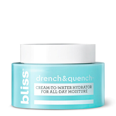 Bliss Drench and Quench Cream-To-Water Daily Moisturizer, 1.7 Ounce