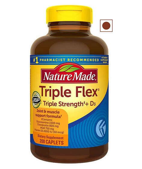 Nature Made TripleFlex Triple Strength + D3, 200 Caplets