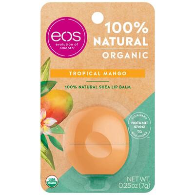 eos Organic Lip Balm, Tropical Mango, 0.25 Ounce