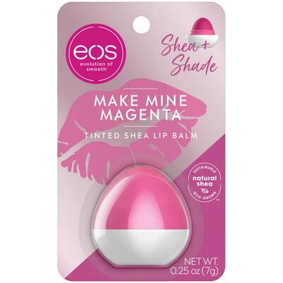 eos Shea + Shade Tinted Lip Balm, Make Mine Magenta, 0.25 Ounce