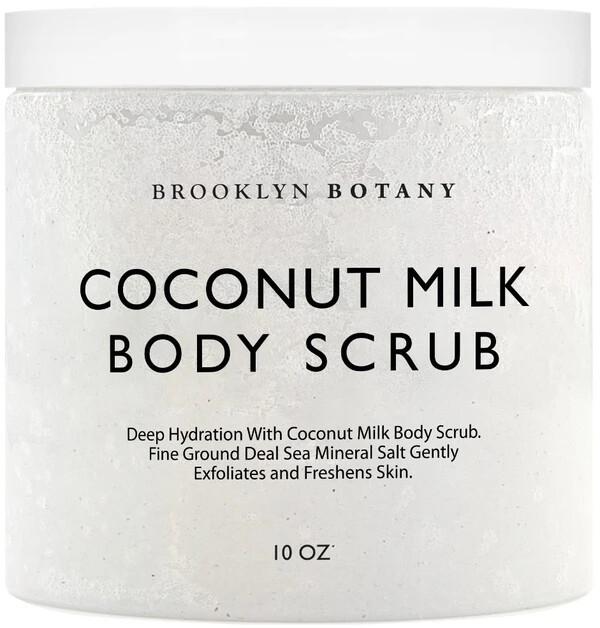 Brooklyn Botany Coconut Milk Body Scrub, 10 Ounce