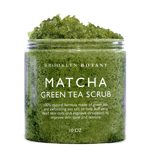 Brooklyn Botany Matcha Green Tea Exfoliating Body Scrub, 10 Ounce