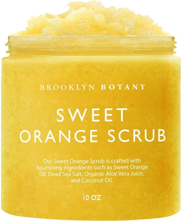 Brooklyn Botany 100% Natural Sweet Orange Body Scrub, 10 Ounce