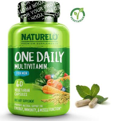 Naturelo One Daily Multivitamin for Men, 60 Capsules