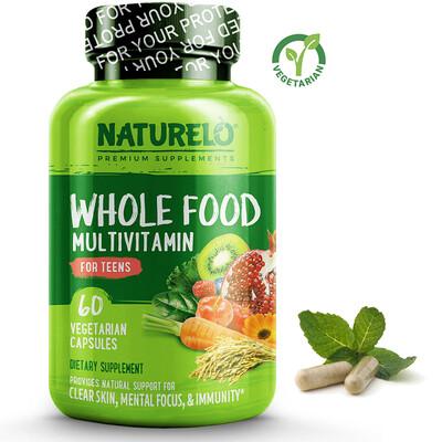 Naturelo Whole Food Multivitamin for Teens, 60 Capsules