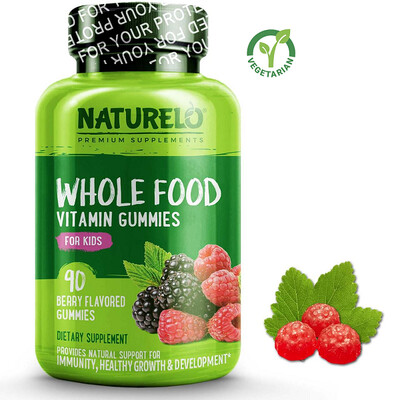 Naturelo Whole Food Vitamin Gummies for Kids, 90 Gummies