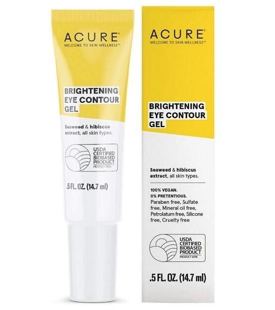 Acure 100% Vegan Brightening Eye Contour Gel, 0.5 fl Ounce