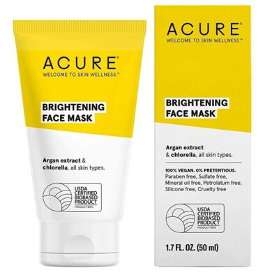Acure 100% Vegan Brightening Face Mask, 1.7 fl Ounce