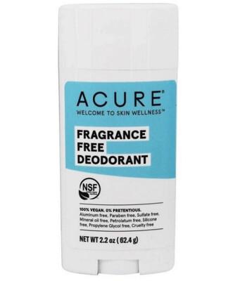 Acure 100% Vegan Deodorant Fragrance Free, 2.2 Ounce