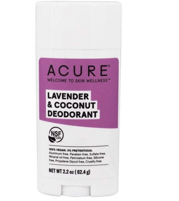 Acure 100% Vegan Deodorant, Lavender and Coconut, 2.2 Ounce