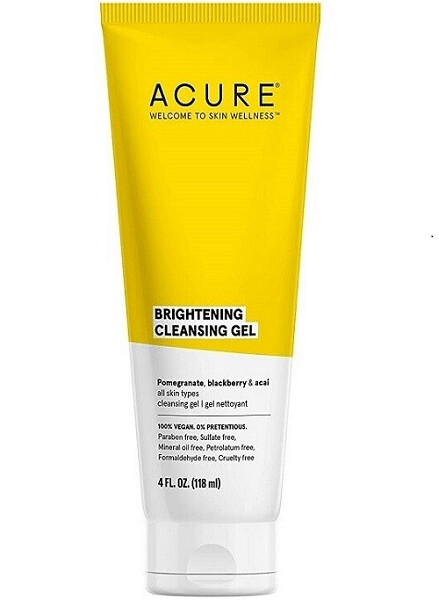 Acure Brightening Cleansing Gel, 4 Ounce