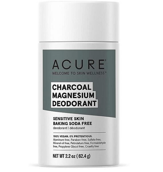 Acure 100% Vegan Charcoal Magnesium Deodorant, 2.2 Ounce