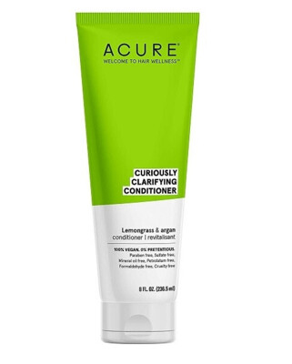 Acure Curiously Clarifying Lemongrass and Argan Hair Conditioner, 8 Ounce