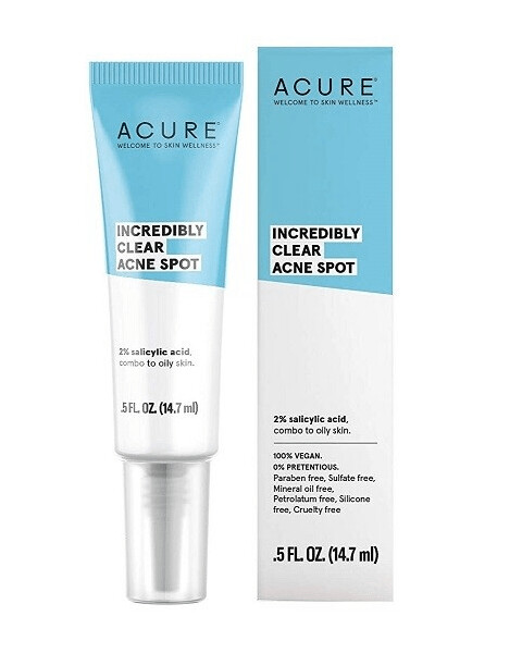 Acure Incredibly Clear Acne Spot, 0.5 fl Ounce