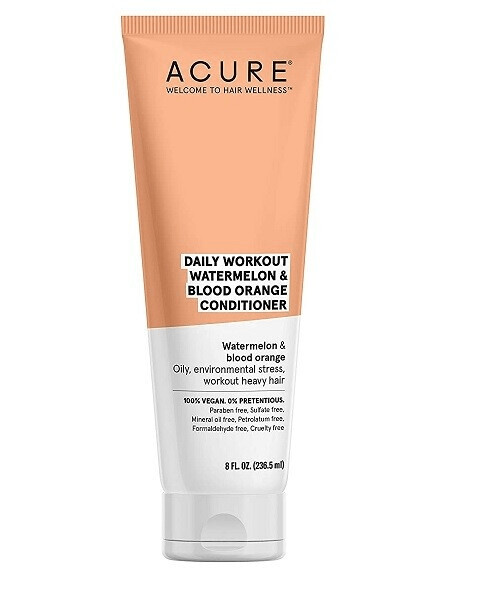 Acure Daily Workout Watermelon and Blood Orange Hair Conditioner, 8 Ounce