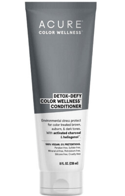 Acure Detox-Defy Color Wellness Activated Charcoal and Sunflower Seed Extract Hair Conditioner, 8 Ounce
